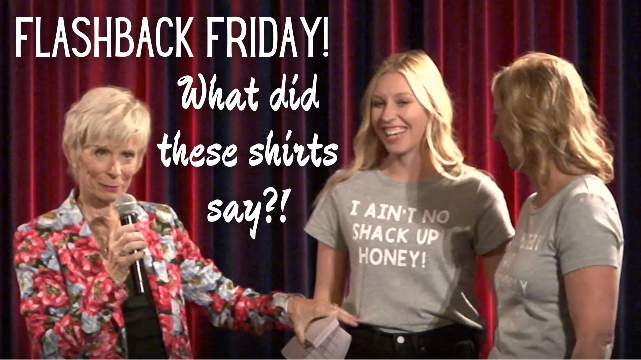 YouTube: Flashback Friday - What Did These Shirts Say?!