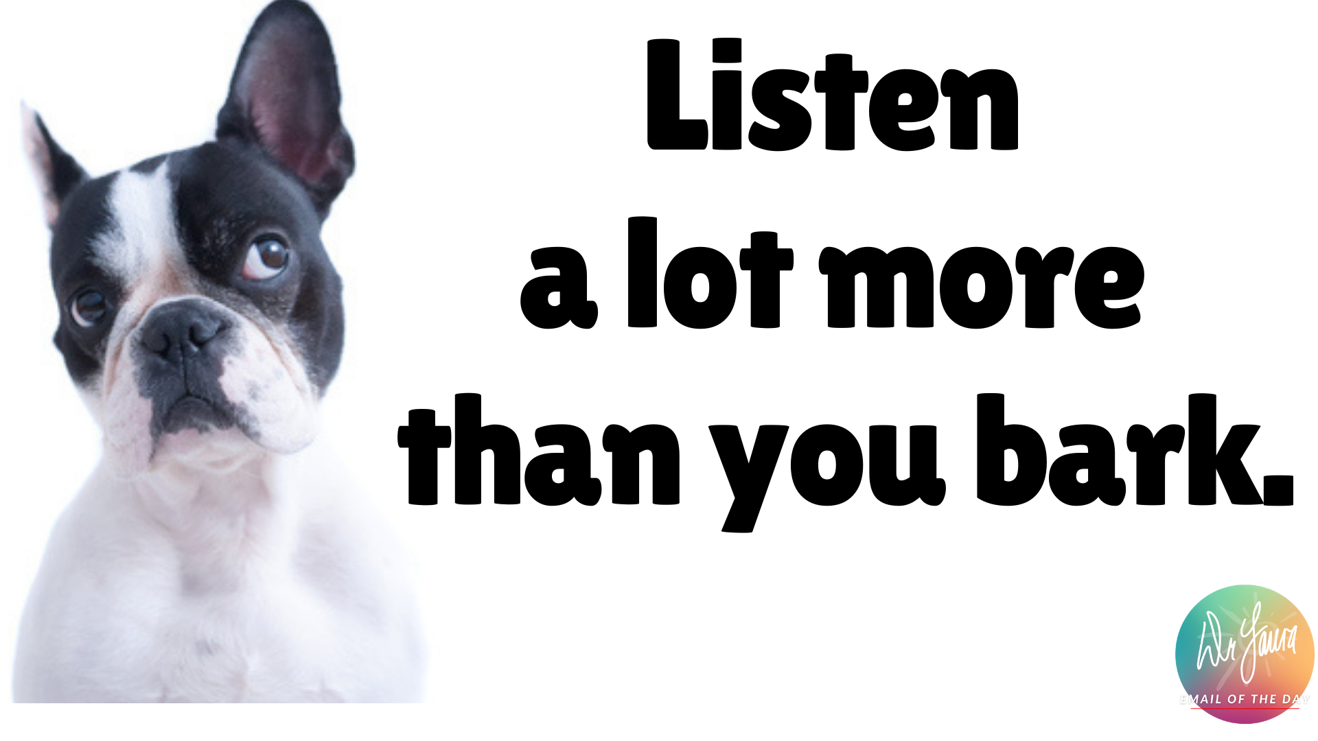 Email of the Day: What I Learned From My Dog, Molly