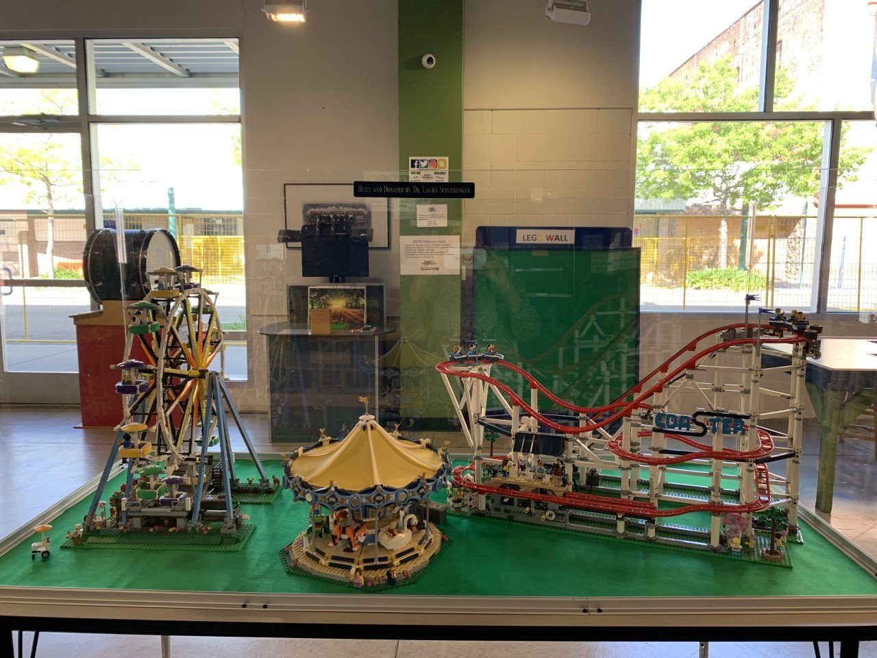 Dr. Laura Donates Lego sets to the WOW Museum in Lodi